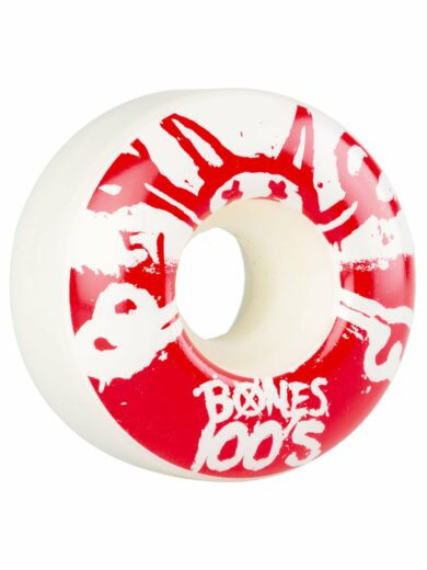 Skateboardová Kolečka Bones 100's Red