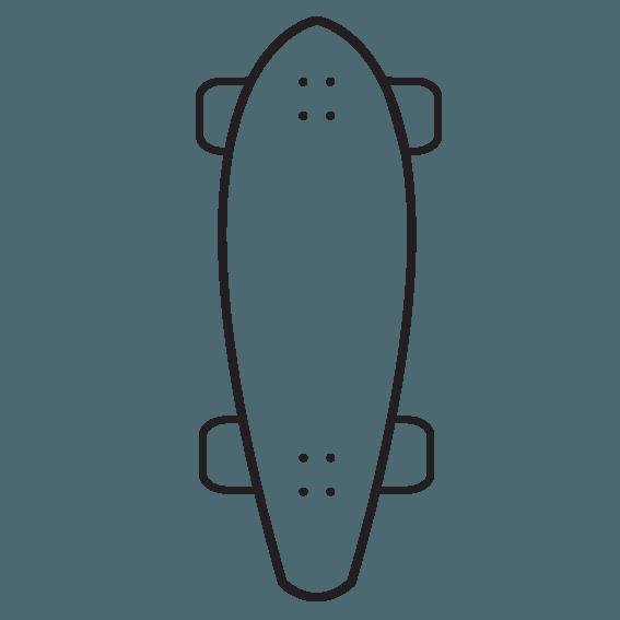 komplet longboard